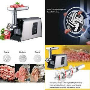 Heavy Duty Electric Meat Grinder And Sausage Stuffer Maker 1000w Max Stainless