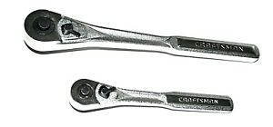 Lot Of 2 Craftsman Ratchets 3 8 In 44811 And 1 2 In 44809 Quick Release
