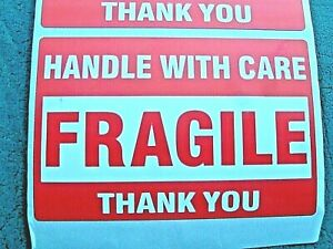 Fragile Handle With Care Stickers 2 X 3 Pack Of 30 thirty Self Stick Labels