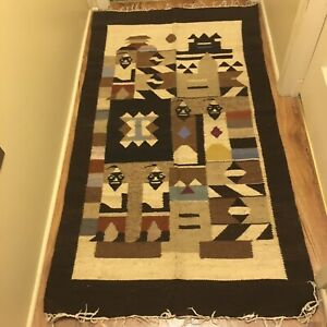 Vintage Egyptian Kilim 33 X 60 Inch Hand Made Wool Area Rug
