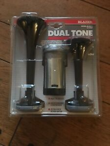 Tuned Extra Loud 12v Car Boat Truck Air Horn Compressor 2 Tone Trumpet Kit Italy