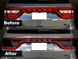 Crux Moto Tail Light Tint For 2014 2020 Dodge Durango Air Release Dark Smoke