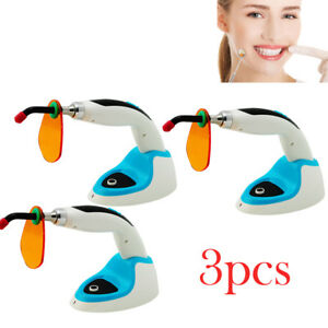 3pcs 10w Led Dental Curing Light Lamp 2000mw Wireless teeth Whitening