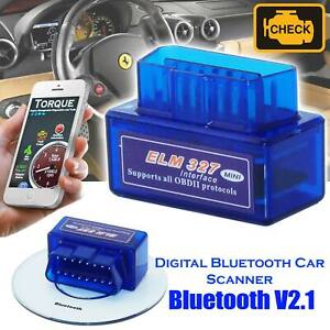Obd2 Universal Car Engine Fault Code Reader Diagnostic Bluetooth Scanner Elm327