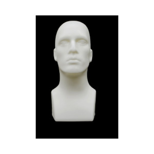 Plastic Tabletop White Male Adult Mens Mannequin Head Display