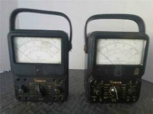 Two 2 Simpson 260 Vacuum Tube Volt ohmmeter Pre owned For Parts