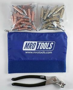 25 1 8 25 3 16 Cleco Fasteners Cleco Pliers W Mesh Carry Bag k4s50 1