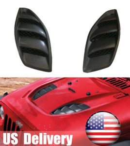 2pcs Louvers Engine Inlet Hood Vents For 10th Anniversary Jeep Wrangler Jk 07 18