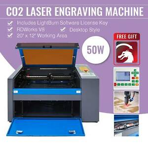 50w Co2 Laser Engraving Machine 20 x12 With Lightburn Rdworksv8 Engraver Cutter