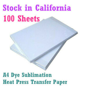 100sheets 8 3 x11 7 Dye Sublimation Heat Press Transfer Paper For Heat Printing