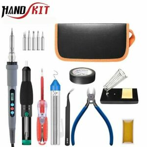 Digital Soldering Iron Electric Gun Wire Stripper Tips Tools Temperature Cooling
