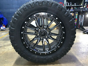 20x9 Fuel D680 Rebel Gray 33 Wheels Rims Nitto Tires Package 6x135 Ford F150