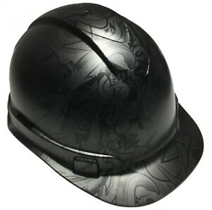 Hydro Dipped Hard Hat Ridgeline Cap Style Custom Metallic Graphite Graffiti