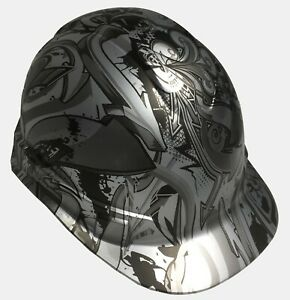 Hydo Dipped Custom Hard Hat Ridgeline Cap Style Silver Metallic Graffiti