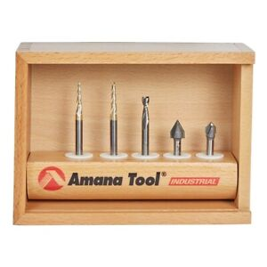 Amana Ams 127 5 pc Starter Engraving Cnc Router Bit Collection 1 4 Shank