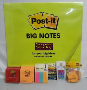 18 Assorted Post it 22x22 4x4 7 8x2 7 8 2 9x2 8inch Sticky Notes