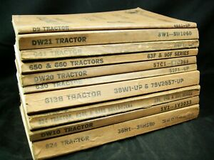 Cat Caterpillar Tractor Parts Manual Lot 10