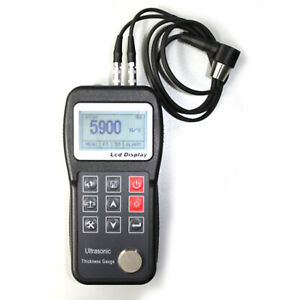 Ultrasonic Thickness Gauge Tester Meter With High Temperatur Probe Transducer