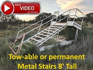 Used Metal Stairs Steel Tow able Airport Tarmac Stairs Very Solid Ready To Use