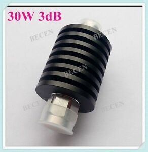 3db 3ghz 50ohm 30w N Male To Female Rf Power Attenuator