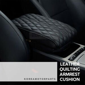 Nuvrino Leather Interior Center Console Armrest Cushion Black For Universal Car