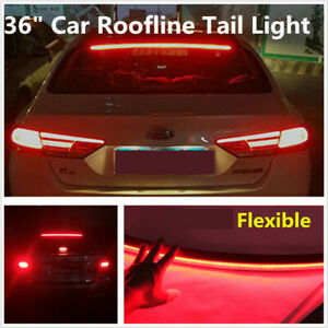 36 led Car Rear Windshield Roofline Third Red Brake Tail Light Red Waterproof