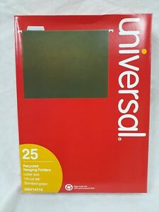 Lot 10 250 Total Universal Unv14115 Recycled Hanging Folders Letter 1 5 Cut