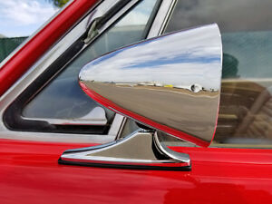 Chrome Sport Door Mirrors Classic Musclecar Vintage Universal Pair New