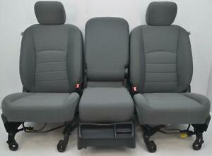 Dodge Ram 1500 2500 3500 Front Cloth Seats Center Console Jump Seat Airbags