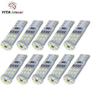 Yitamotor 10pcs White T10 194 2825 Bulbs Led Interior License Plate Trunk Light
