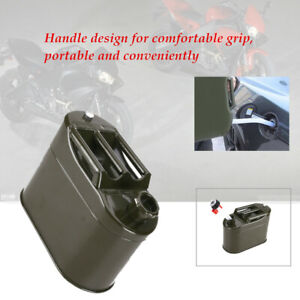 5000ml Motorcycle Spare Portable Handle Fuel Tank Car Petrol Oil Container Can