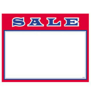 Sale Economy Price Cards 7 X 11 Inches Pack Of 100 Cards
