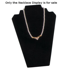 Velvet Necklace Display In Black 8 25 W X 12 50 H Inches