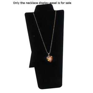 Velvet Necklace Display Easel In Black 4 25 W X 8 87 H Inches