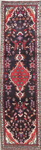 Vintage Floral Oriental Malayer Runner Rug Wool Hand Knotted Medallion 3x10