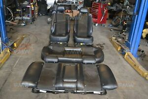 04 07 05 06 Cadillac Cts V Cts v Black Leather Suede Seats Fronts Back