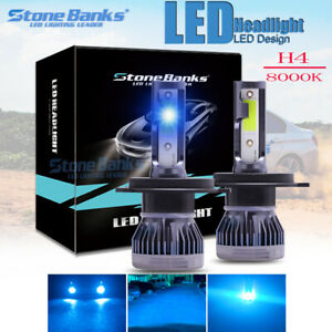H4 Hb2 9003 Led Headlight Ice Blue 110w 22000lm Kit 8000k Blue Hi Low Beam Bulb
