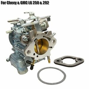 Fits For Chevy Gmc L6 250 292 Carburetor W Choke Thermostat 1 Bbl Rochester