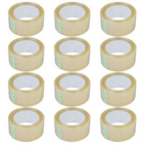 36 Rolls 2 7 Mil 180 Ft 60 Yards Heavy Duty Carton Sealing Packing Shipping Tape