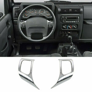 Steering Wheel Panel Trim Decor Cover Fit 1997 2006 Jeep Wrangler Tj Unlimited