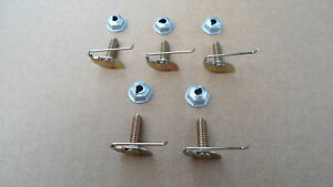 5 Vintage Moulding Clips And Nuts Fits 1950 70 S Mopar Charger Cuda Challenger
