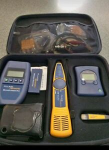 Fluke Networks Microscanner Pro Network Cable Tester verifier With Accesories