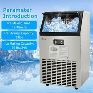99lbs 115v 60hz Electric Portable Frigidaire Ice Maker Countertop Cube Machine