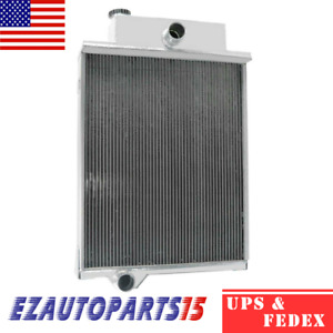 4 Row Aluminum Radiator For John Deere Tractor 4000 4020 Ar40832 49454 46434 New