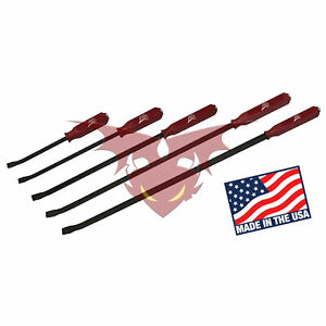 Atd 5pc Professional Pry Bar Set W Strike Caps 12 17 25 31 36 Usa 63905