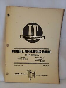 Minneapolis Moline Oliver 2255 G955 G1355 Tractor I t Service Manual