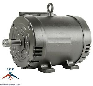 7 5 Hp Electric Motor 3450 Rpm 184 T Frame 1 Ph Single Phase 208 230 Volt