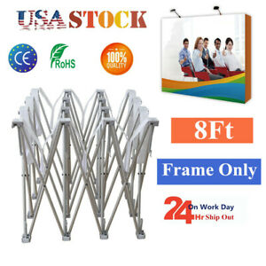 Usa Wholesale 8ft Straight Pop Up Display Backdrop Stand Trade Show Frame Stand