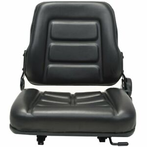 New Forklift Tractor Seat With Adjustable Backrest Black