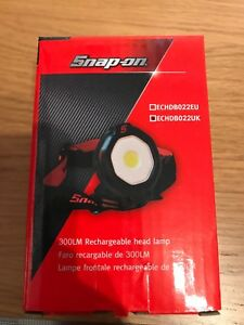 Snap On Head Lamp Torch 300lm Rechargeable New